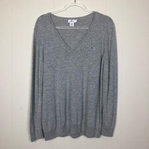 Vineyard Vines | Women's Grey V Neck Sweater